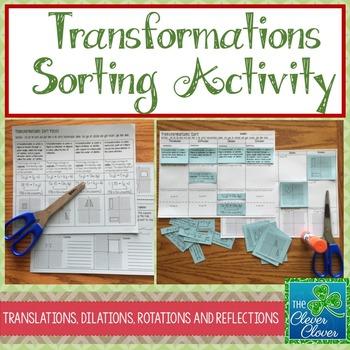 Transformation Sorting Activity
