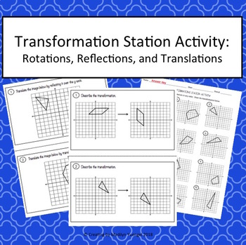 Transformation Station Activities - Rotations, Reflections, and Translations