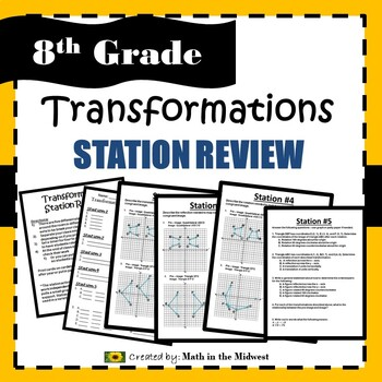 Transformation Station Review {Translations, Rotations, Reflections}8.G.1, 8.G.2