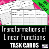 Transformations of Linear Functions: Task Cards