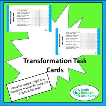 Algebra 1 and 2:  Transformation Task Cards