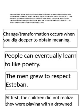 Transformation Unit-Compare and Contrast short story and poem teacher key