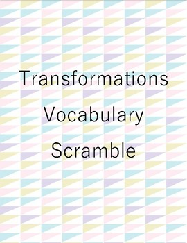 Transformation Vocabulary Scramble