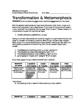 Transformation and Metamorphosis