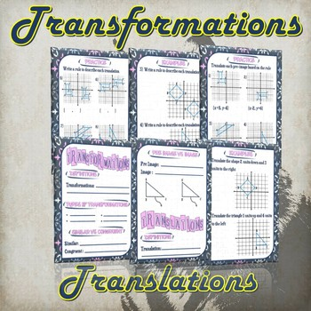 Transformation and Translations - (Guided Notes and Practice)