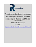 Transformation from command economy to modern market economy in Russia and China