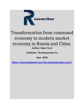 Transformation from command economy to modern market econo