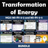 Transformation of Energy Bundle NGSS  MS-PS-3-2 and MS-PS-3-5
