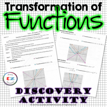 Transformation of Functions - Discovery Activity