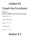 Transformation of Parent Function Stations