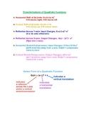 Transformation of Quadratic Functions