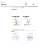 Transformation of Quadratic Functions