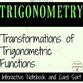 PreCalculus Transformation of Trigonometric Functions Notebook
