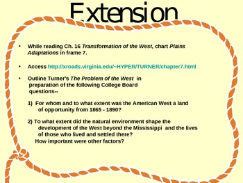 Transformation of the West Powerpoint