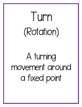 Transformational Geometry Posters: Flips, Slides and Turns