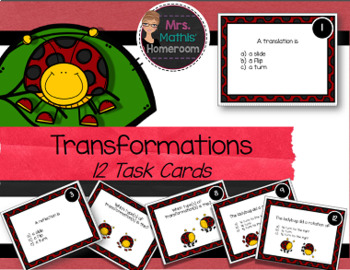 Transformational Geometry Task Cards