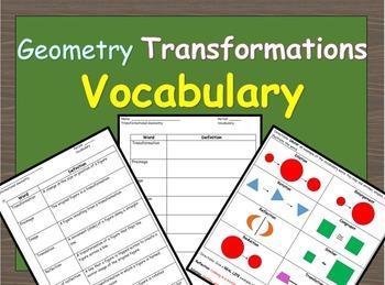 Transformational Geometry Vocabulary