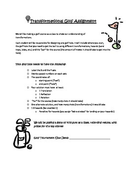 Transformational Golf Unit Task