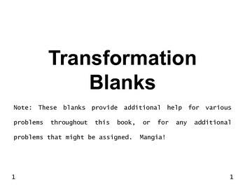 Transformations 01: Transformation Blank Coordinate Plane Graphs