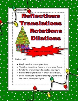 Transformations Graphing Activity (Christmas Edition)