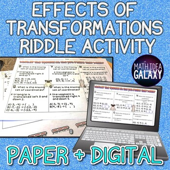 Effects of Transformations Riddle Activity