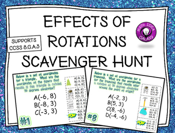 Effects of Rotations (Transformations) Scavenger Hunt Activity