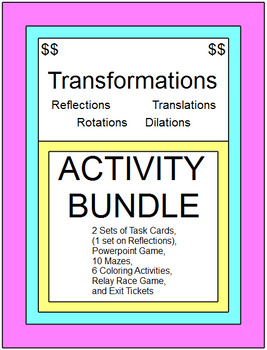TRANSFORMATIONS - ACTIVITY BUNDLE (WITH 3 SETS OF BOOM DIGITAL TASK CARD SETS)