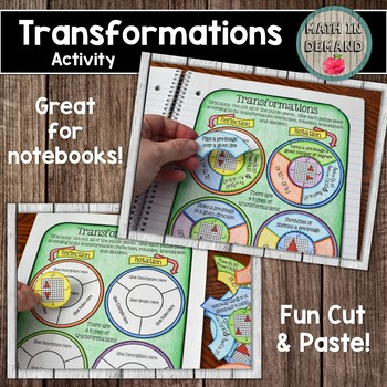 Transformations Activity (Cut and Paste Transformations Activity)