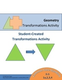 Transformations Activity Math 8.G. 1 2 3 4 Students Create, Differentiation
