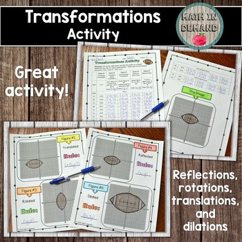 Transformations Activity (Translations, Reflections, Rotat