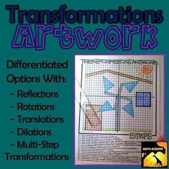 Transformations Artwork - Rotations, Reflections, Translations, & Dilations