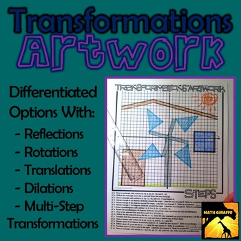 Transformations Artwork - Rotations, Reflections, Translations, & Dilations