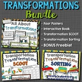 Transformations BUNDLE --- Student Book, Posters, SCOOT, Sorting and FREEBIE