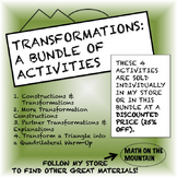 Transformations Bundle: 4 Activities