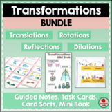 Transformations Bundle Rigid Motions and Similarity Notation Practice Stations