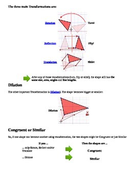 Transformations CHEAT SHEET 2!!