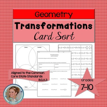 Transformations Card Sort