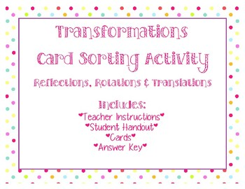 Transformations: Card Sorting Activity