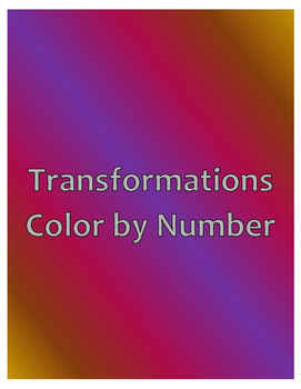 Transformations Color By Number