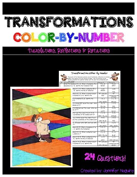 Transformations - Color-by-Number Activity