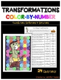 Transformations - Color-by-Number Activity - Halloween theme