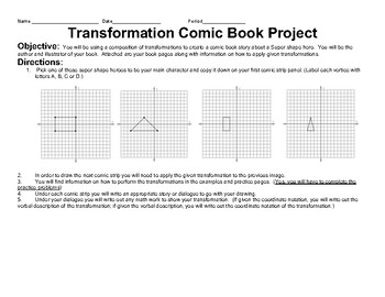 Transformations Comic Book Project