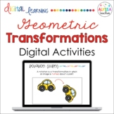 Geometric Transformations Digital Activities   Distance Learning