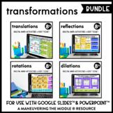 Transformations Digital Math Activity Bundle | 8th Grade Math Distance Learning