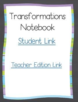 Transformations Digital Notebook