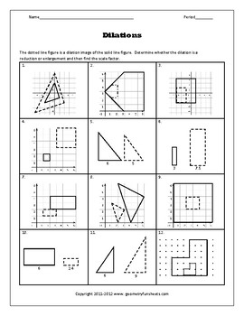 transformations dilations worksheets by funsheets4math tpt. Black Bedroom Furniture Sets. Home Design Ideas