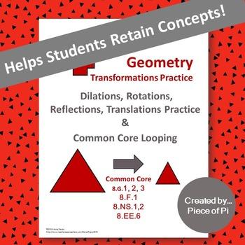 Transformations Dilations Rotations Reflections Translations 8.G.1 2 3