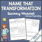 Transformations - Discovery Worksheet and Cut and Paste Activity
