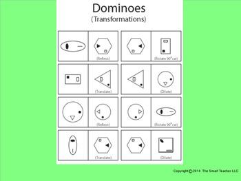 Transformations Dominoes