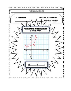 Transformations Doodle Notes Bundle
